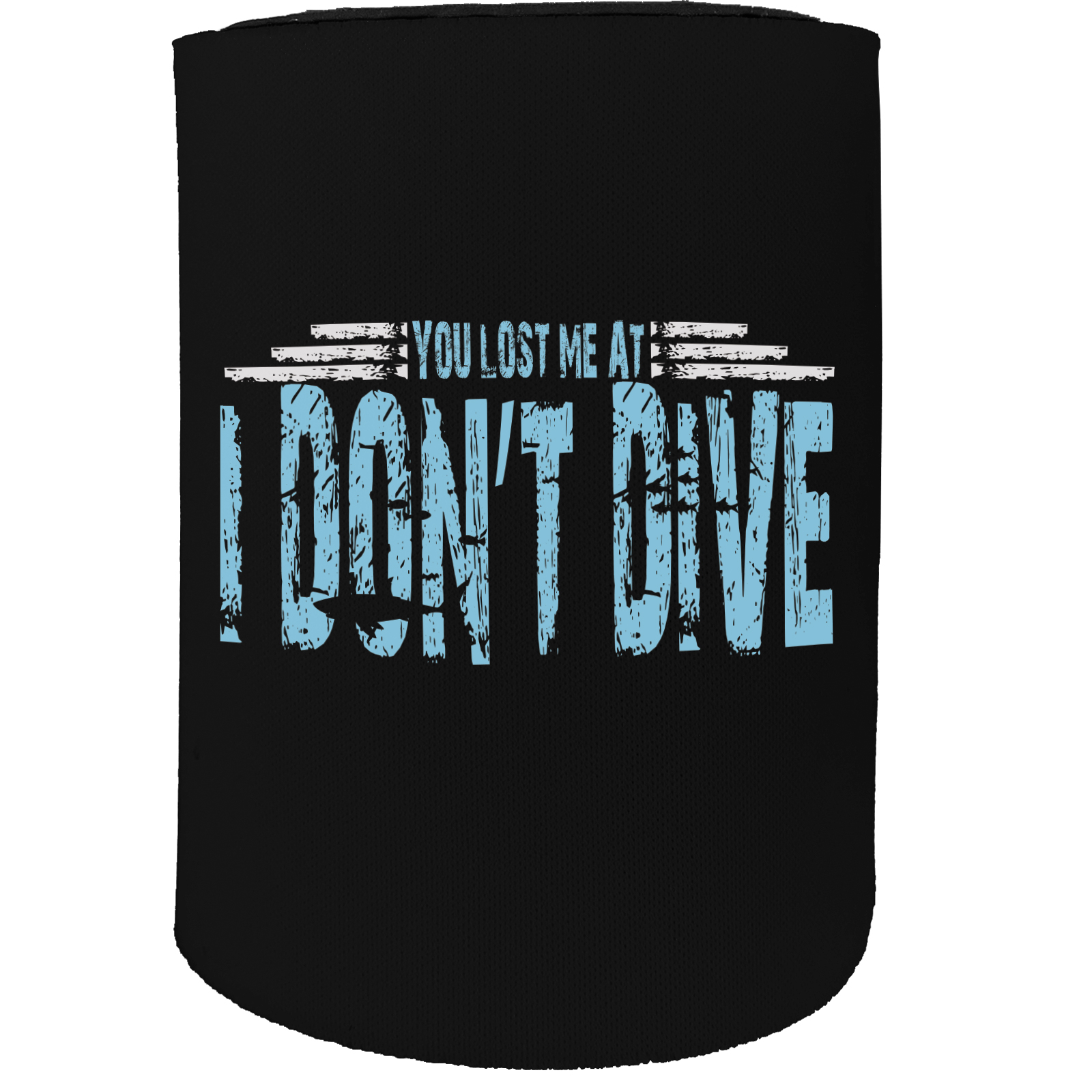 Ow Lost Dive Scuba Diving Stubby Holder Funny Novelty Birthday Stubbie Relieving Heat And Thirst.